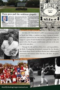The Reilly Thanksgiving Invitational Back Cover